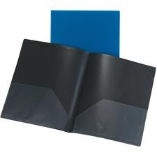 "Oxford Letter Portfolio - 8 1/2"" x 11"" - 80 Sheet Capacity - Polypropylene - Blue - 1 Each"