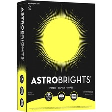 "Astrobrights Inkjet, Laser Copy & Multipurpose Paper - Lift-off Lemon - Letter - 8 1/2"" x 11"" - 24 lb Basis Weight - 500 / Pack"