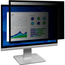 """3M Framed Privacy Filter Black - For 23.6"""" Widescreen, 24"""" Monitor - 16:9 - Scratch Resistant, Dust Resistant"""
