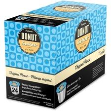 Authentic Donut Shop Original Roast Coffee - Donut Shop Blend, Arabica - Medium - 24 / Box