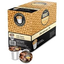 Authentic Donut Shop Vanilla Hazelnut Coffee - Vanilla Hazelnut, Arabica - Medium - 24 / Box