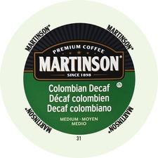 Martinson Colombian Decaf Medium Roast Coffee K-Cup - Decaf Colombia - Medium - 24 / Box