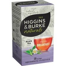 Higgins & Burke Naturals English Breakfast Black Tea - Black Tea - English Breakfast, Kenyan, Assam, Ceylon - 20 / Box