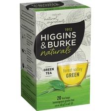 Higgins & Burke Naturals English Green Tea Bags - Green Tea - Lemongrass, Lemon Balm - 20 / Box