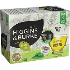 Higgins & Burke Naturals Bountiful Green Tea K-Cup - Green Tea - Ginger, Peach - 24 / Box