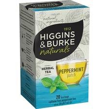Higgins & Burke Naturals Peppermint Herbal Tea - Herbal Tea - Peppermint - 20 / Box