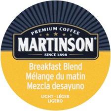 Martinson Breakfast Blend Light Roast Coffee K-Cup - Breakfast Blend - Light - 24 / Box