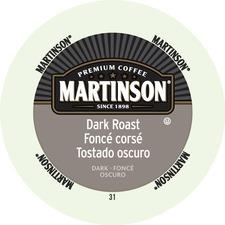 Martinson Dark Roast Coffee Pods K-Cup - Dark - 24 / Box