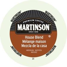 Martinson House Blend Medium Roast Coffee K-Cup - House Blend, Caramel - Medium - 24 / Box