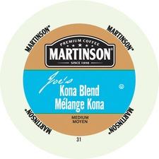 Martinson Joe's Kona Blend Med Roast Coffee K-Cup - Kona Blend - Medium - 24 / Box