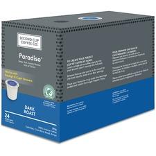 Second Cup Dark Blend Coffee - Cocoa - Dark - 24 / Box