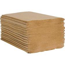 "Esteem 100% Natural Single Fold Towels - Single Fold - 9"" - Natural - Embossed - 250 Per Pack - 16 / Carton"