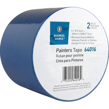 """Business Source Multisurface Painter's Tape - 60 yd (54.9 m) Length x 2"""" (50.8 mm) Width - 5.50 mil (0.14 mm) Thickness - 2 / Pack - Blue"""