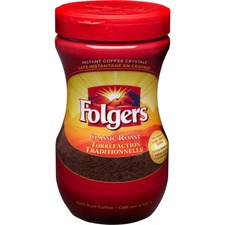 Folgers® Classic Roast Instant Coffee Crystals - Caffeinated - Classic, Mountain Grown - 8 oz - 1 Each