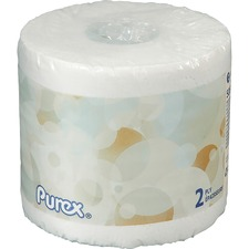 """Purex 2-ply Bathroom Tissue - 2 Ply - 4.2"""" x 4"""" - 506 Sheets/Roll - White - Hygienic, Perforated, Individually Wrapped, Eco-friendly - 60 / Carton"""