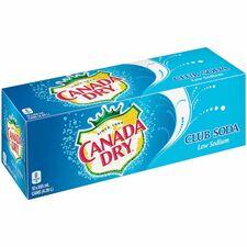 Coca-Cola Canada Dry Club Soda - Ready-to-Drink - Soda Flavor - 4.26 L - 12 / Box / Can