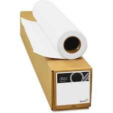 "dtec Inkjet Copy & Multipurpose Paper - White - 24"" x 150 ft - 26 lb Basis Weight - Matte - 1 / Roll"