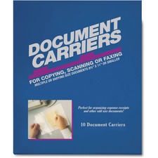 """ICONEX Document Carrier Sheet - 8.50"""" (215.90 mm) Width x 11"""" (279.40 mm) Length - Clear - Acetate - 10 / Box"""