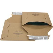"""Supremex Conformer Mailer - Corrugated - 12 1/4"""" Width x 14 1/2"""" Length - 2"""" Gusset - Kraft - 25 / Pack - Natural Kraft"""