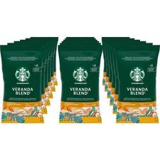 Starbucks Veranda Blend Blonde Roast Ground Coffee - Veranda Blend, Soft Cocoa, Toasted Nut, Mellow - Blonde - 2.5 oz - 18 / Box