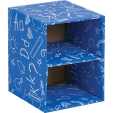 """Fellowes Classroom Stacking Cube Organizer - 2 Compartment(s) - 7.4"""" Height x 6"""" Width x 5.8"""" Depth - Multi - 1 / Pack"""