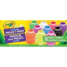Crayola Activity Paint - 59 mL - Assorted Neon