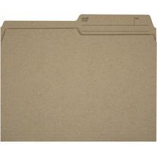 """Offix 1/2 Tab Cut Letter Top Tab File Folder - 8 1/2"""" x 11"""" - Kraft - 200 / Box"""