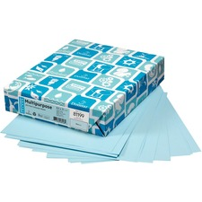 """Domtar EarthChoice Colored Paper - Blue - Letter - 8 1/2"""" x 11"""" - 24 lb Basis Weight - 500 / Pack"""