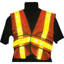 RONCO High-Viz Traffic Vest - Comfortable, Breathable, Reflective Strip, Reflective Front & Back, High Visibility - One Size Size - Mesh - Orange - 1 Each