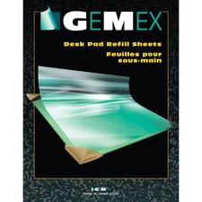"Gemex Desk Pad Refill Sheets - Rectangle - 20"" (508 mm) Width - PVC Vinyl - Clear"