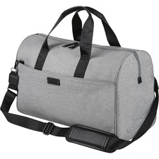 """bugatti Carrying Case (Duffel) Apple iPad Notebook - Gray - Water Proof Pocket - Polyester - Shoulder Strap, Trolley Strap - 11"""" (279.40 mm) Height x 19"""" (482.60 mm) Width x 8.50"""" (215.90 mm) Depth"""