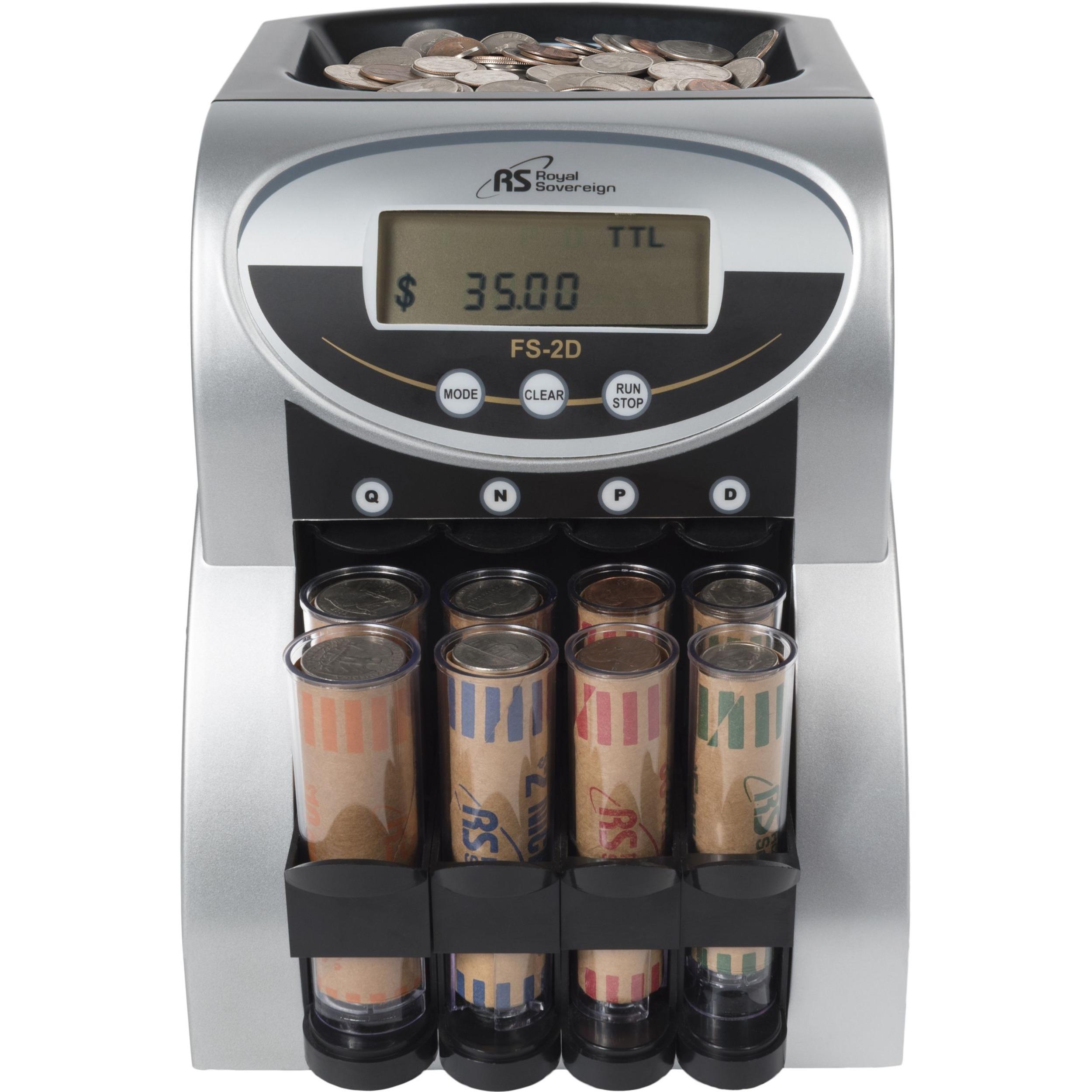 Coin Counter Machine Sorter 2 Row Electric Digital Display Anti-Jam Technology