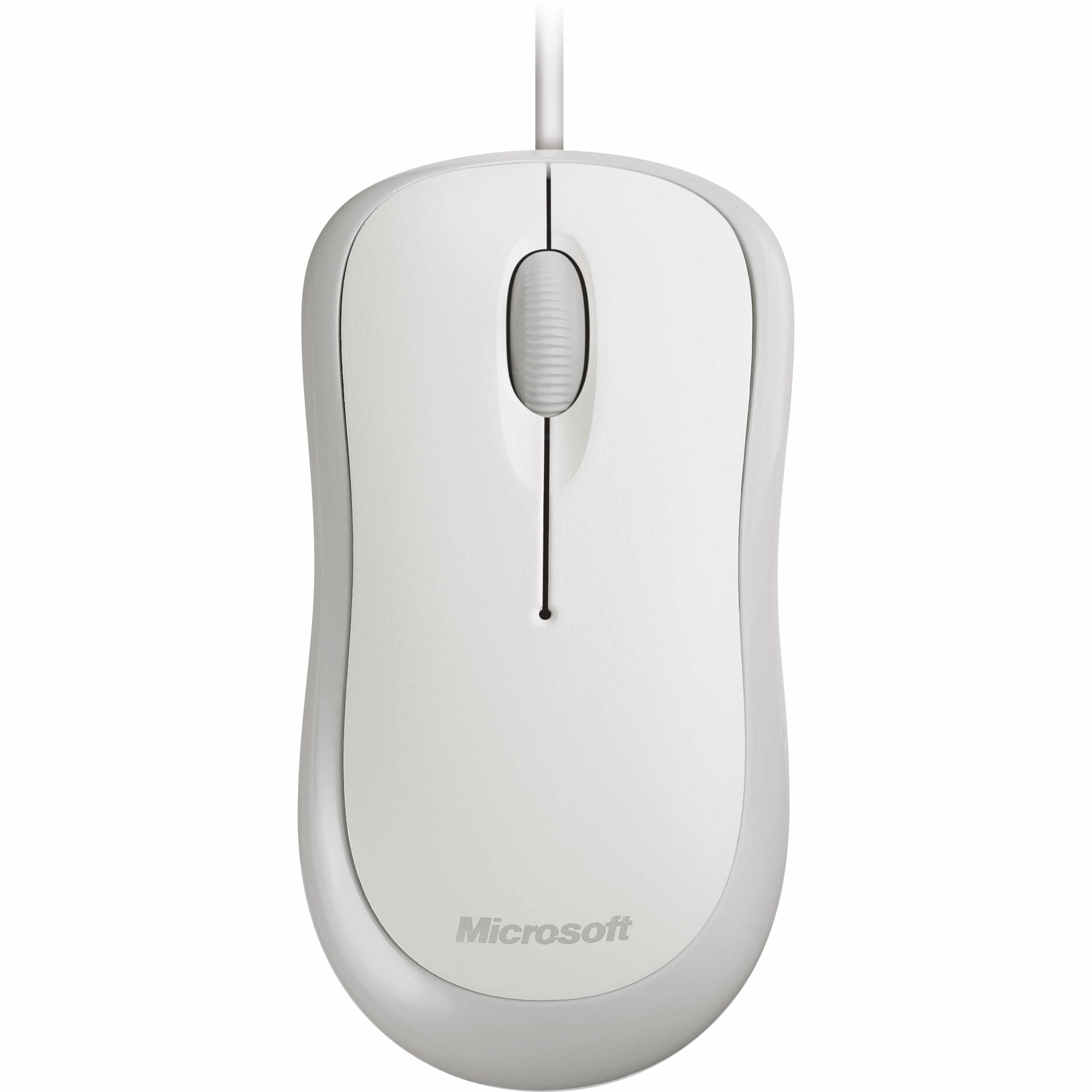 Microsoft 4YH-00008 Mouse - Optical - Cable - 3 Buttons - White
