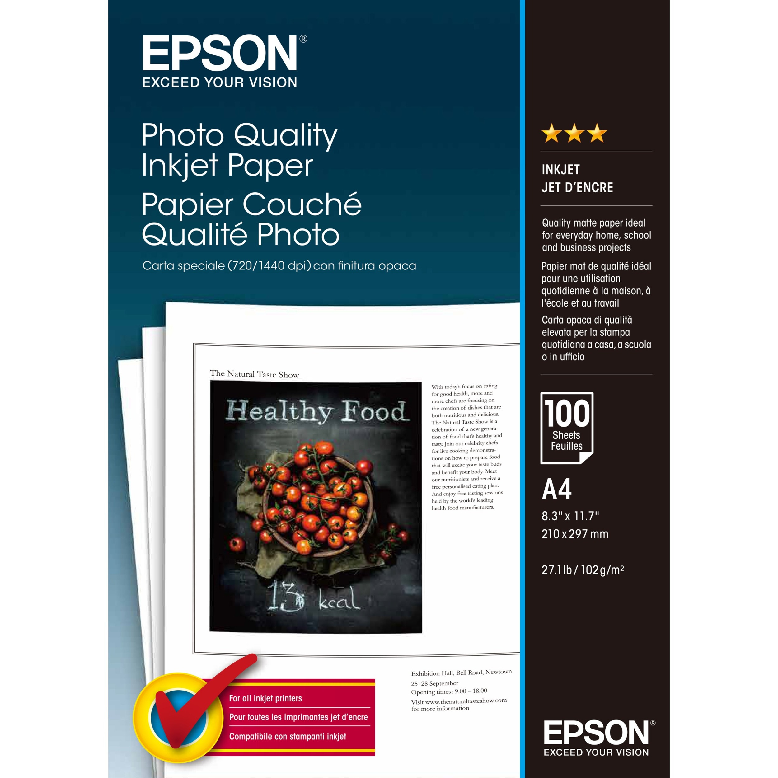 Epson C13S041061 Photo Paper - A4 - 210 mm x 297 mm - 100 x Sheet