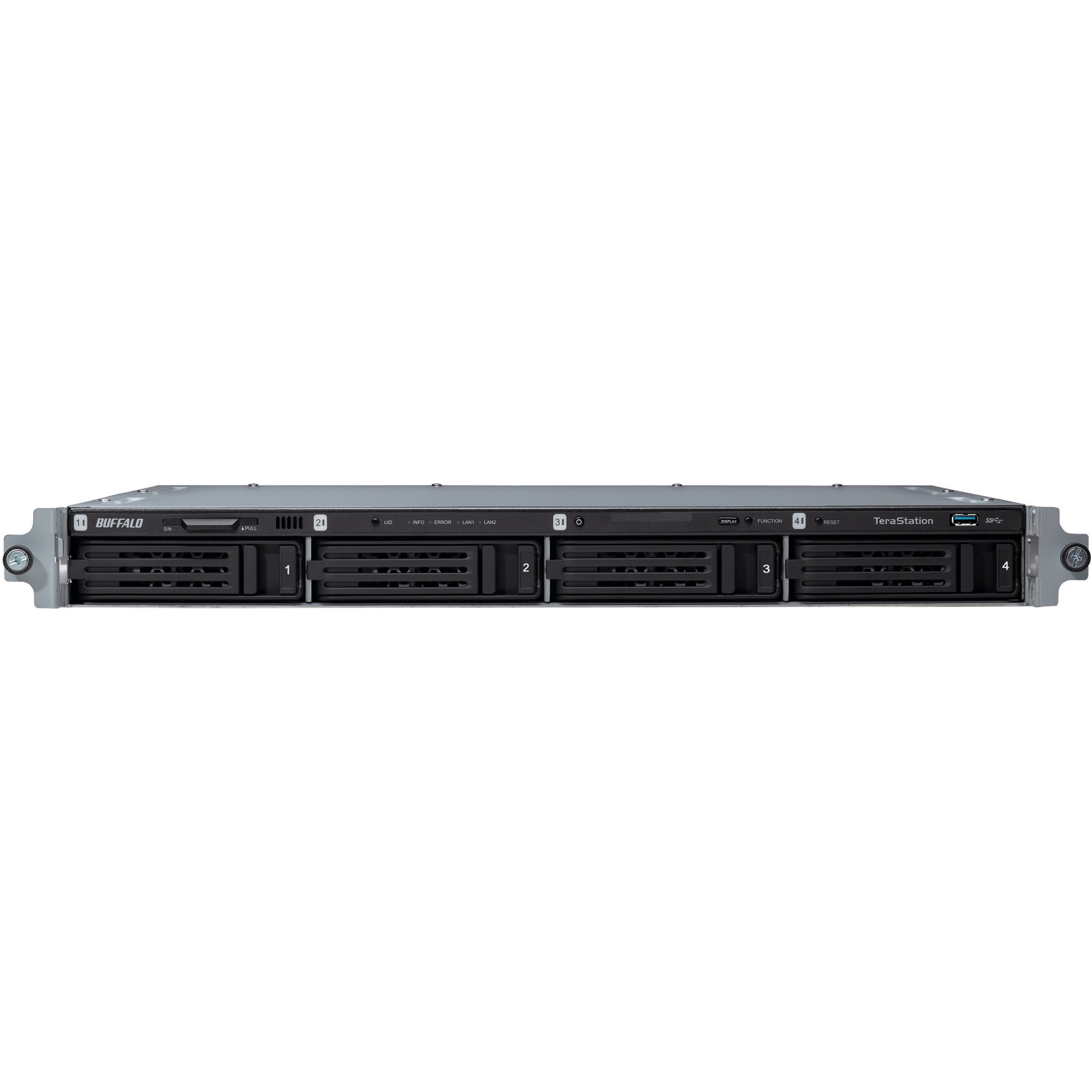 Buffalo TeraStation TS5400RWR1604 4 x Total Bays NAS Server - 1U - Rack-mountable - 1 x Intel Atom D2700 Dual-core 2 Core 2.13 GHz - 16 TB HDD 4 x 4 TB - 2 GB RA