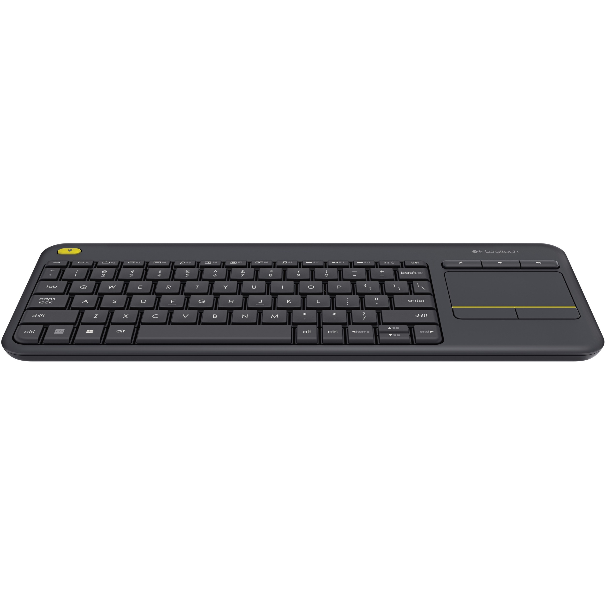 Logitech K400 Plus Black Wireless Media Keyboard
