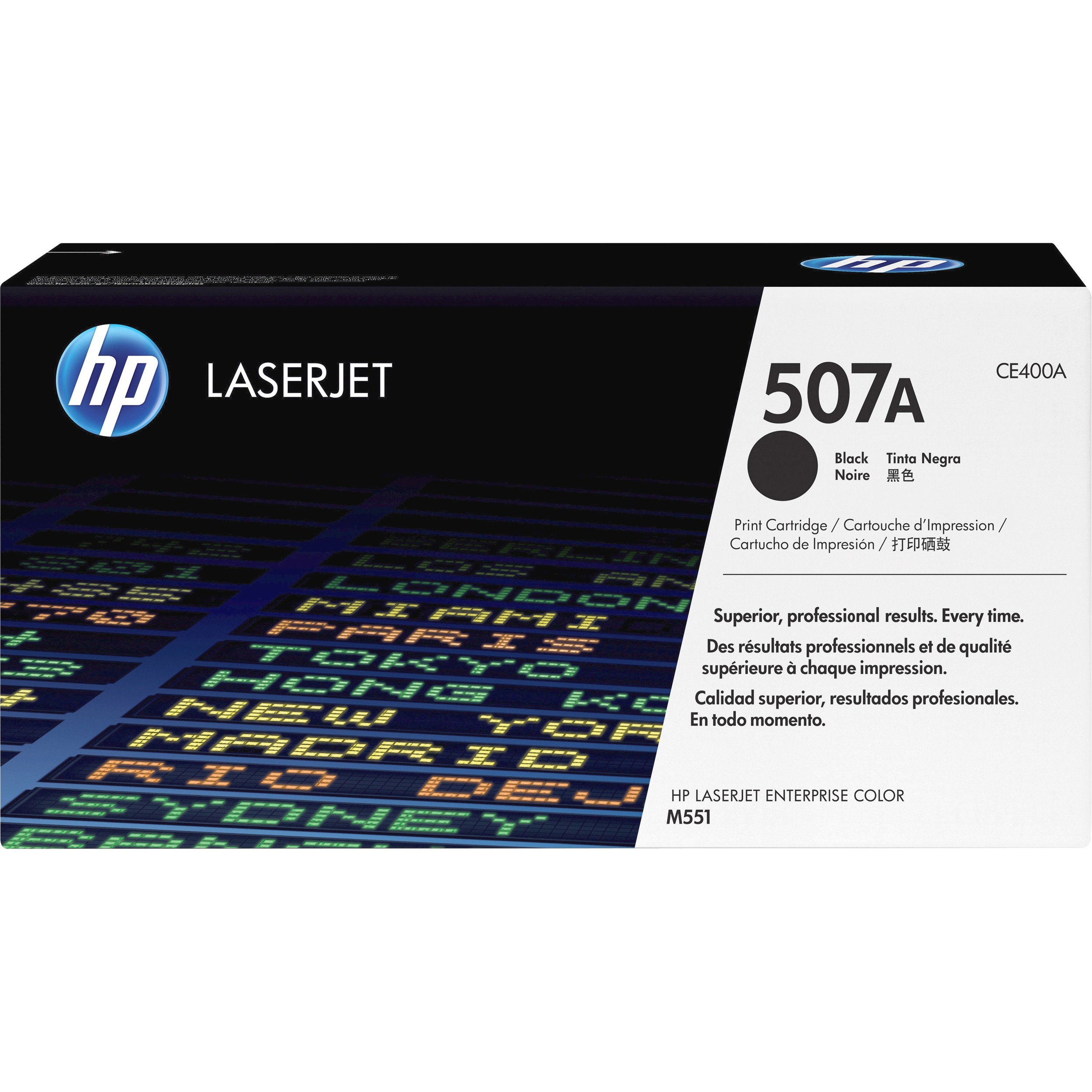 HP 507A Toner Cartridge - Black - Laser - 5500 Page - 1 Pack