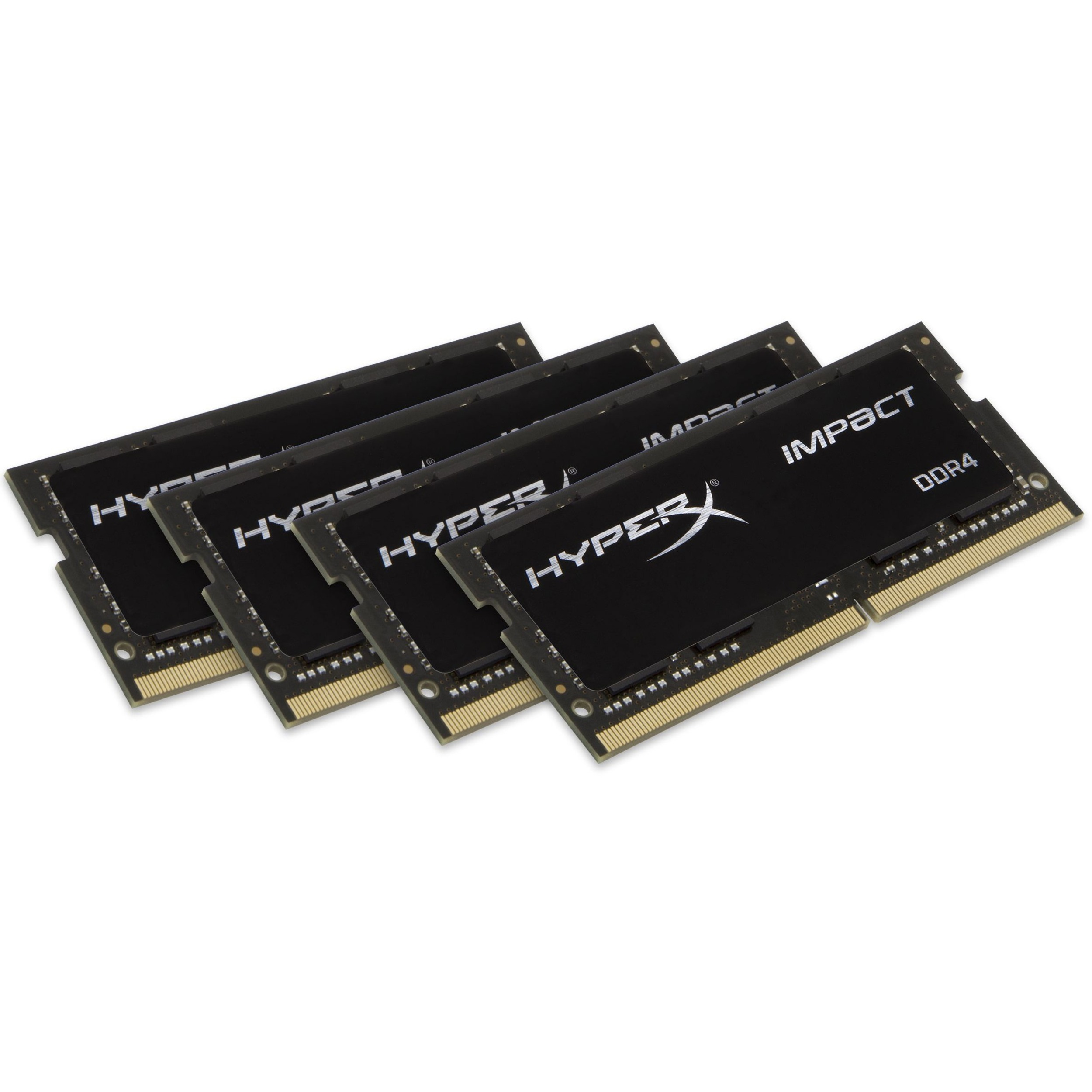 Kingston HyperX Impact RAM Module - 32 GB 4 x 8 GB - DDR4 SDRAM - 2400 MHz DDR4-2400/PC4-19200 - 1.20 V - Non-ECC - Unbuffered - CL15 - 260-pin - SoDIMM