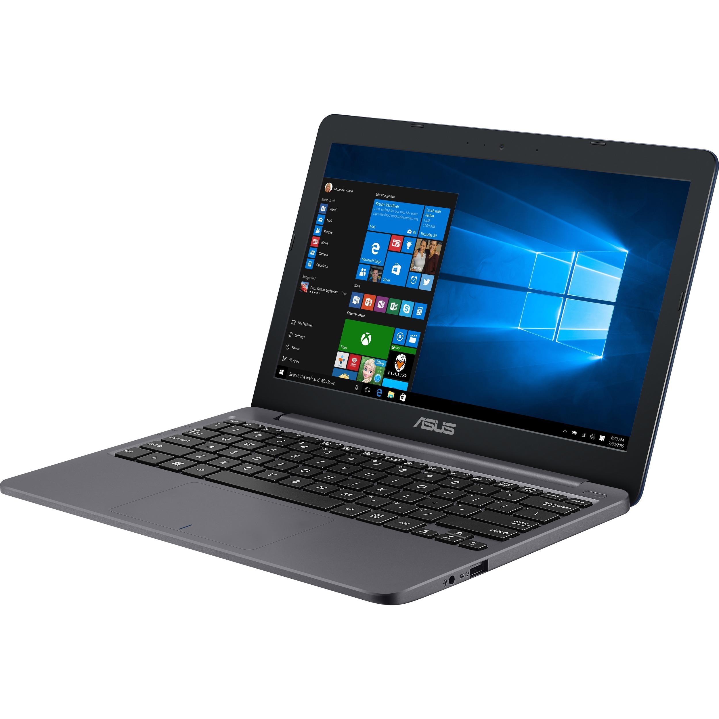 Asus VivoBook E12 E203MA-FD017TS 29.5 cm 11.6inch Netbook - 1366 x 768 - Celeron N4000 - 4 GB RAM - 64 GB Flash Memory - Star Gray - Windows 10 S 64-bit - Intel UHD G