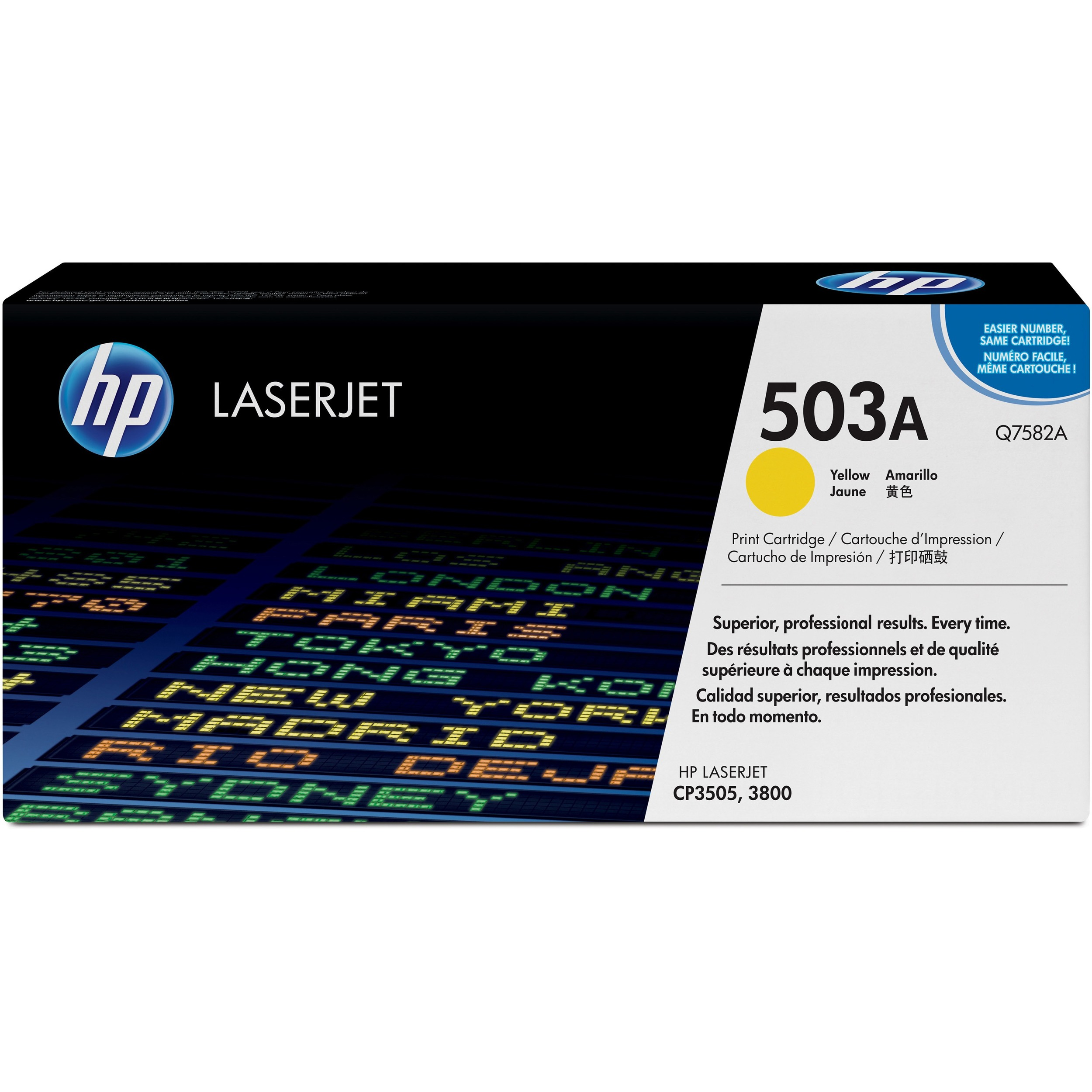 HP 503A Toner Cartridge - Yellow - Laser - 6000 Page - 1 Each
