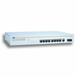 At-Fs709fc 8port Switch 10/100 Sc-Fiber RJ45 Unmanaged / Mfr. No.: At-Fs709fc-10