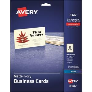 Avery® Business Cards Inkjet Ivory 250/pkg