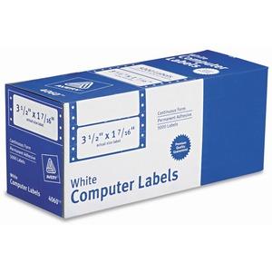"Avery® Computer Labels 3-1/2"" x 1-7/16"" White 5,000/box"