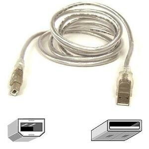 10ft USB Ab Device USBa To USBb Clear Ice For iMac Rohs / Mfr. no.: F3U133-10-CBL
