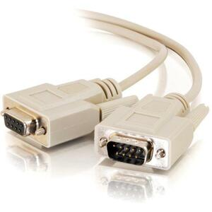 C2G 10ft DB9 M/F Extension Cable - Beige