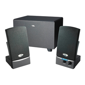 Cyber Acoustics OEM 2.1 Amplified Speaker System- Black / Mfr. No.: Ca-3001wb