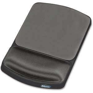 Fellowes Gel Wrist Rest and Mouse Pad - Graphite/Platinum / Mfr. No.: 91741