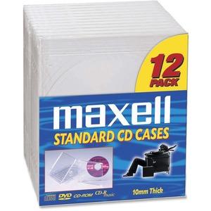 Maxell Standard Jewel Cases Transparent 12/pkg