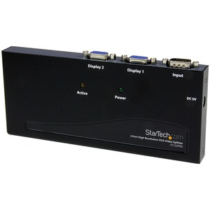 Startech 2-Port High Resolution VGA Video Splitter - 350 MHz / Mfr. No.: St122pro