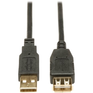 10ft USB AA Extension Cable Gold For USB 2.0 Cables Black / Mfr. No.: U024-010